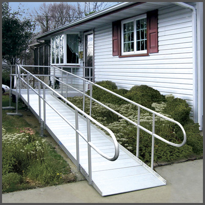 Handicap ramp installation wheelchair ramp construction for Handicap accessible modular homes
