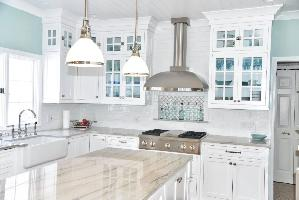 White Kitchen Cabinets Used in Kitchen Remodel